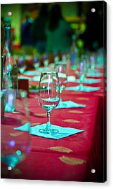 Tasting In Red Acrylic Print by Kent Nancollas