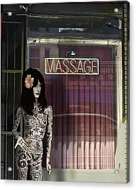 Tattoo And Massage Acrylic Print by Larry Butterworth