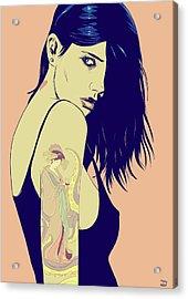 Tattoo Acrylic Print by Giuseppe Cristiano