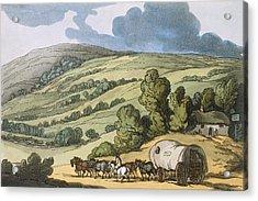 Taunton Vale, Somersetshire Acrylic Print by Thomas Rowlandson