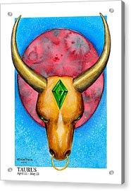 Taurus Acrylic Print by Michael Baum