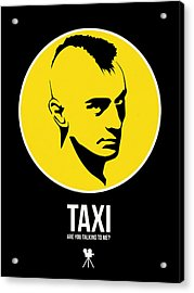 Taxi Poster 2 Acrylic Print by Naxart Studio
