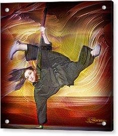 Taylor Lynch Action Portrait Acrylic Print by Salakot