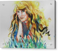 Taylor Swift Acrylic Print by Chrisann Ellis
