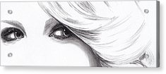Taylor Swift - Eyes  Acrylic Print by Furniga Niculina