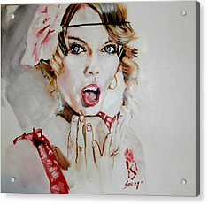 Taylor Swift/seventeen Acrylic Print by Martin Strong