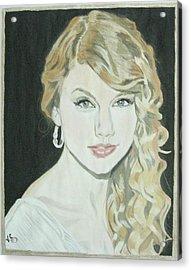 Taylor Swift Acrylic Print by Vinit Sharma