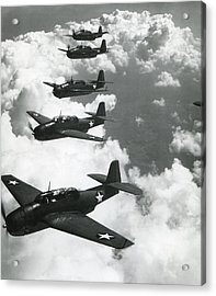 Tbf Torpedo Fighter Bombers Avengers Acrylic Print by Everett