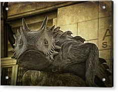 Tcu Horned Frog Acrylic Print by Joan Carroll
