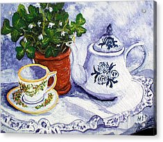 Tea For Nancy Acrylic Print by Barbara McDevitt