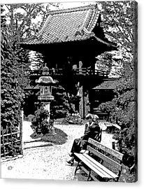 Acrylic Print featuring the photograph Tea Garden Golden Gate Park San Francisco 1915 by A Gurmankin