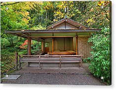 Tea House At Japanese Garden Acrylic Print by JPLDesigns