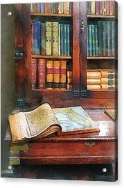 Teacher - Geography Book Acrylic Print by Susan Savad