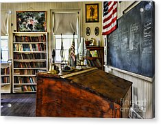 Teacher - Vintage Desk Acrylic Print by Paul Ward
