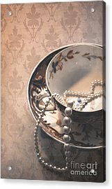 Teacup And Pearls Acrylic Print by Jan Bickerton