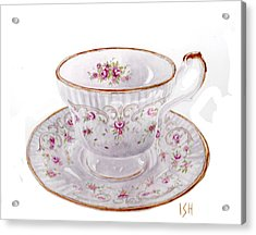 Teacup Acrylic Print by Inger Hutton
