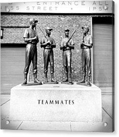Teammates Acrylic Print by Greg Fortier