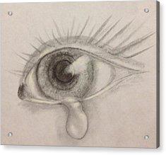 Tear Acrylic Print by Bozena Zajaczkowska