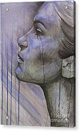 Tears In The Rain Acrylic Print by Michael  Volpicelli