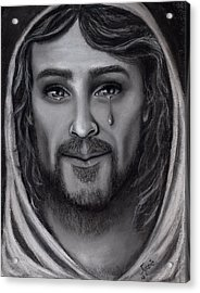 Tears Of Joy Acrylic Print by Just Joszie