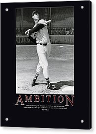 Ted Williams Ambition Acrylic Print by Retro Images Archive