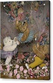 Teddy Bear Ballet Acrylic Print by Mary J Tait