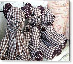 Teddy Bear Triplets Acrylic Print by Ian Scholan