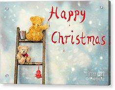Teddy Bears At Christmas Acrylic Print by Amanda And Christopher Elwell