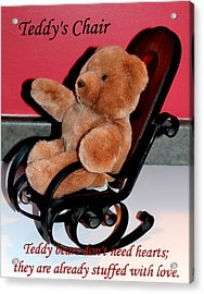 Teddy's Chair - Toy - Children Acrylic Print by Barbara Griffin