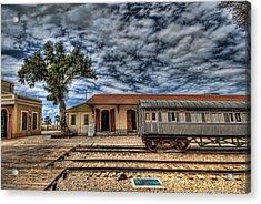 Tel Aviv Old Railway Station Acrylic Print by Ron Shoshani
