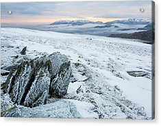 Temperature Inversion From Red Screes Acrylic Print by Ashley Cooper
