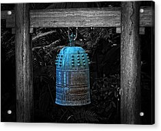 Temple Bell - Buddhist Photography By William Patrick And Sharon Cummings  Acrylic Print by Sharon Cummings