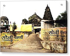 Temple In India Acrylic Print by Sumit Mehndiratta