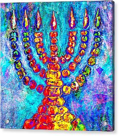 Temple Menorah Acrylic Print by Music of the Heart