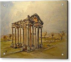 Temple Of Aphrodite Acrylic Print by Juan  Bosco