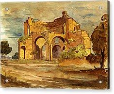 Temple Of Minerva Rome Acrylic Print by Juan  Bosco