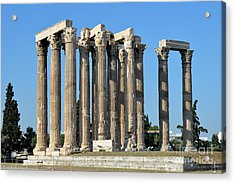 Temple Of Olympian Zeus In Athens Acrylic Print by George Atsametakis