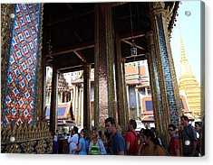 Temple Of The Emerald Buddha - Grand Palace In Bangkok Thailand - 011310 Acrylic Print by DC Photographer