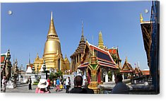 Temple Of The Emerald Buddha - Grand Palace In Bangkok Thailand - 01132 Acrylic Print by DC Photographer