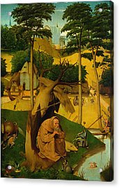 Temptation Of St. Anthony, 1490 Oil On Panel Acrylic Print by Hieronymus Bosch