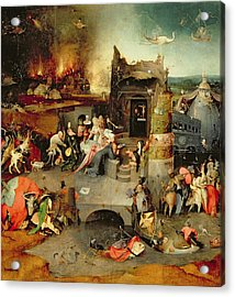 Temptation Of Saint Anthony Centre Panel  Detail Acrylic Print by Hieronymus Bosch