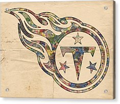 Tennessee Titans Poster Art Acrylic Print by Florian Rodarte