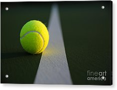 Tennis Ball At Last Light Acrylic Print by David Lee