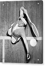 Tennis Champ Sylvia Henrotin Acrylic Print by Underwood Archives