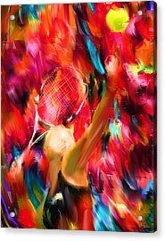 Tennis I Acrylic Print by Lourry Legarde