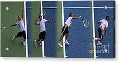 Tennis Serve By Mikhail Youzhny Acrylic Print by Nishanth Gopinathan