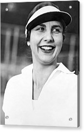 Tennis Star Helen Wills Acrylic Print by Underwood Archives