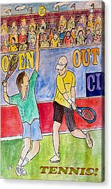Tennis Strokes Acrylic Print by Monica Engeler