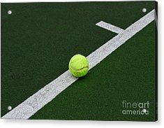 Tennis - The Baseline Acrylic Print by Paul Ward