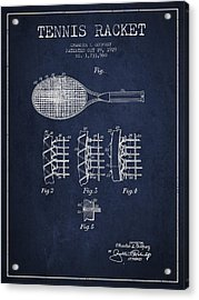 Tennnis Racket Patent Drawing From 1929 Acrylic Print by Aged Pixel